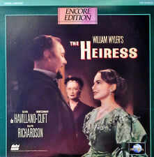 THE HEIRESS - OLIVIA de HAVILLAND, MONTGOMERY CLIFT - MCA UNIVERSAL -  LASERDISC