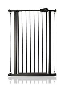 Safetots Extra Tall Premium Pressure Fit Matt Black Baby Stair Gate 75-147.4cm