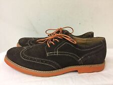 Stafford Men Brown Leather Suede Oxford Shoes Lace up size 11M