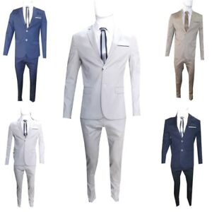 abito da uomo slim fit 52 56 completo vestito sartoriale elegante estivo cotone