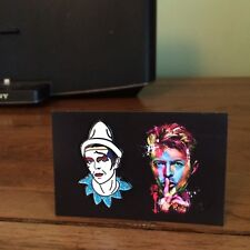 David Bowie Ashes To Ashes Pierrot Pin Badge Aladdin Sane, Life On Mars, Heroes.