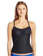 adidas Mesh Adjustable Tankini, Black, 16