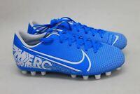 NIKE Boys Mercurial Vapour XIII AG Blue White Football Cleats BQ5500-414 UK2
