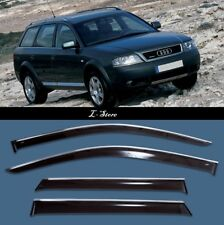 Chrome Trim Side Window Visors Guard Vent Deflectors For Audi A6 Allroad 2000-06