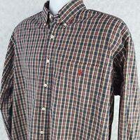 Ralph Lauren Blake Men's Button Front Shirt Size L Long Sleeve Plaid SE72