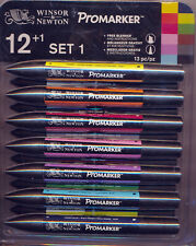 Winsor & Newton ProMarker 12+1 Set 1 NEW Free Blender