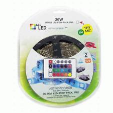 REMOTE CONTROL 5M LED STRIP PACK INC DRIVER RGB IP65 PLUG AND PLAY 36w