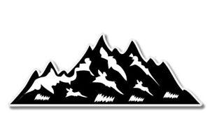 Mountains Hike Climb Car Laptop Phone Vinyl Sticker  - SELECT SIZE