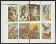 GB Locals - Staffa 3651 - 1977 BIRDS of PREY perf sheetlet of 8  unmounted mint