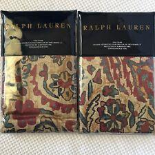 Ralph Lauren 2 King Pillow Shams Bohemian Muse Larson New 100% Cotton MSRP $370