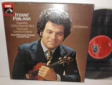 SLS 832 Paganini Violin Concerto Sarasate Carmen Fantasy 24 Caprices Perlman 2LP