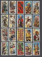 1972 Burton's Wagon Wheels Wild West Action Tobacco Cards Complete Set of 25