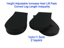 2 Layers Height Adjustable Increase Heel Lift Pads Correct Leg Length Inequality