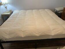 """WOOLRICH WHITE Cotton Queen Size 86""""x 92"""" DOWN  Comforter Insert"""