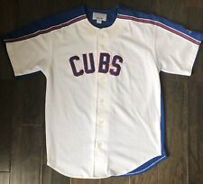 Vintage Starter Chicago Cubs Button Up Jersey Sz Medium 90s MLB