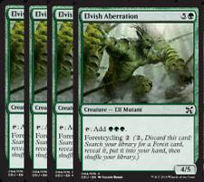 Elvish Aberration NM X4 Duel Decks: Elves Vs Inventors Green Comm