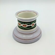 Antique Ceramic Inkwell Lavender Blue Green Red Ink Well Hand Painted