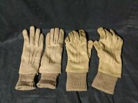 Vintage Leather Gloves women's Made in Philippines Tan Color Smooth 1 new 1 Used