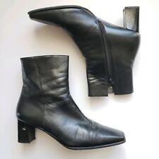 Stuart Weitzman Black Leather Ankle Boots Side Zip Calfskin 8.5 US $595