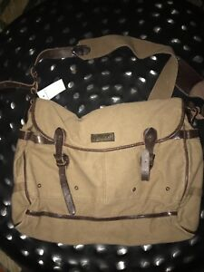 New Ralph Lauren Polo Canvas and Leather  Messanger Bag