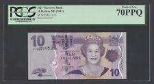 Fiji 10 Dollars ND(2012) P111b Uncirculated Graded 70