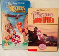The Rescuers Down Under 1990 film (VHS and Movie Tie-In Paperback)