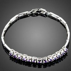 Personalised Gift For Her PURPLE CHARM TOGGLE CLASP CUFF BRACELET KHAISTA