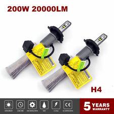 H4 9003 HB2 200W 20000LM Copper LED Headlight Bulb 6000K Fanless Hi/Low Beam 7FP