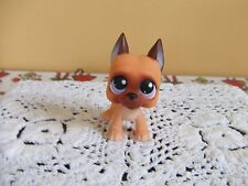 LPS Littlest Pet Great Dane orange brown purple eyes 244 blemished US seller HTF