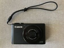 Canon PowerShot S110 12.1MP Digital Camera - Black w/leather case.