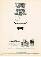PUBLICITE ADVERTISING 024   1967   MARCEL ROCHAS   parfum MOUSTACHE