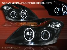 FIT 08-10 ALTIMA CCFL TWIN HALO LED PROJECTOR HEADLIGHTS BLACK COUPE 2-DOOR