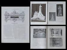 LA CONSTRUCTION MODERNE n°52 1908- MONUMENTS JULES VERNE, ARNOLD MITCHELL