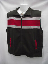 BNWT Mens Sz M Rivers Brand Smart Light Olive/Stripe Sleeveless Vest RRP $40