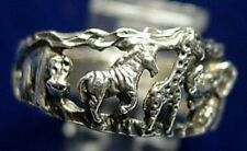 COOL Zoo zebra giraffe elephant tiger sterling silver ring