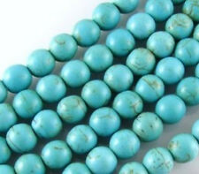 "4mm Round Gemstone Beads-LIGHT BLUE CANDY TURQUOISE  15""AAA"