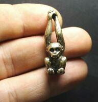 Brass Monkey Figurine Keychain Trinket Collectible Miniature
