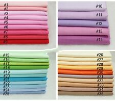 50CM*50CM  Solid color  100%cotton fabric Quilting Clothes Bedding Sewing