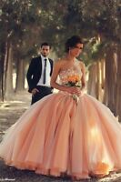 New Formal Prom Party Pageant Quinceanera Dress Wedding Dresses Ball Gown Custom