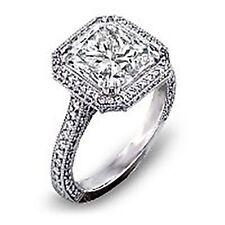 2.55 Ct. Princess Cut Diamond Engagement Ring EGL