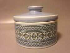Hornsea vintage tapestry trinket box jewellery ceramic lidded pot