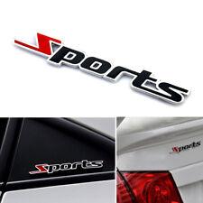 Sports Word Letter 3D Metal Chrome Cars Sticker Emblem Badge Decal Auto Decor