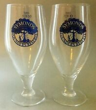 "2x 1 PINT New Symonds ""Founders Reserve"" Cider Official Chalice/ Goblet Glasses"