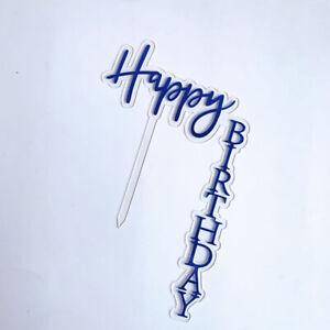 Acrylic Home Happy Birthday Cake Topper DIY Decor Baking Card Party Decor Supply