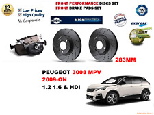 FOR PEUGEOT 3008 1.6 120BHP 2009-on FRONT PERFORMANCE BRAKE DISCS SET + PADS KIT