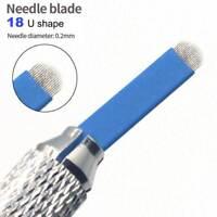 100pcs Microblading 18 U Needles Eyebrow Tattoo Permanent Makeup Manual Blade