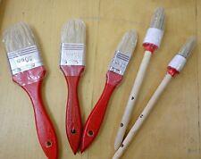 Set 5 Pennelli Pittura Pennello Tondo Piatto Dipingere Vernice Smalto Edilizia