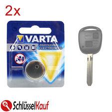 2x Varta Batteria Auto chiave per Toyota Avensis Aygo Corolla rav4 YARIS LEXUS