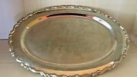 "Vintage Silver plated Platter/Tray Oneida USA 18 1/4"" long Decor serving tray"