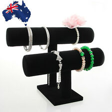 Jewellery Holder Stand Black Rack Jewelry Bracelet Necklace Display WDIS00502